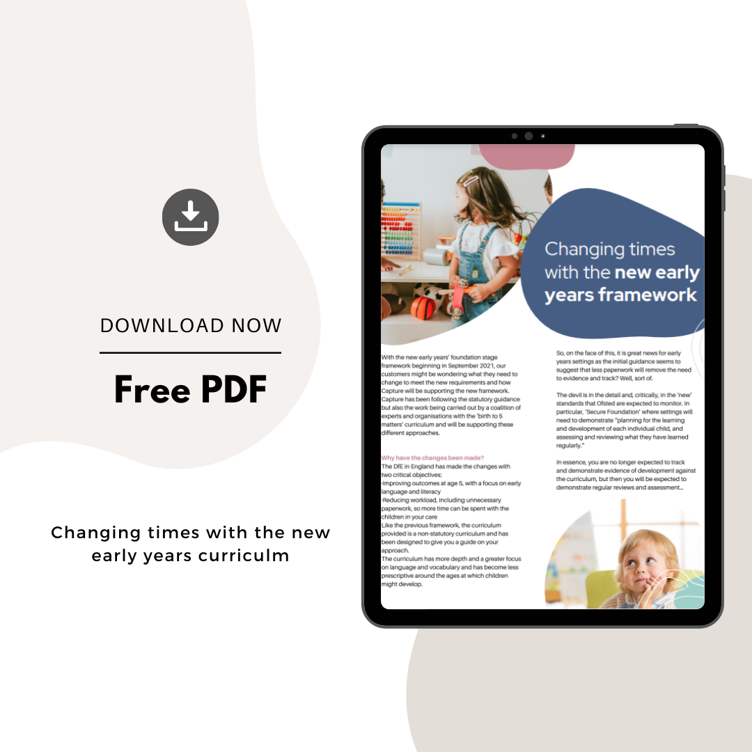 Download our changing times with the new early year's framework! 1